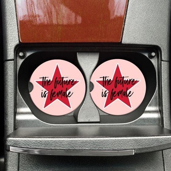 The Future Is Female - Car Coaster Set of 2