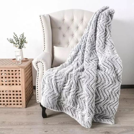 Sterling Snuggles - Minky Throw Blanket