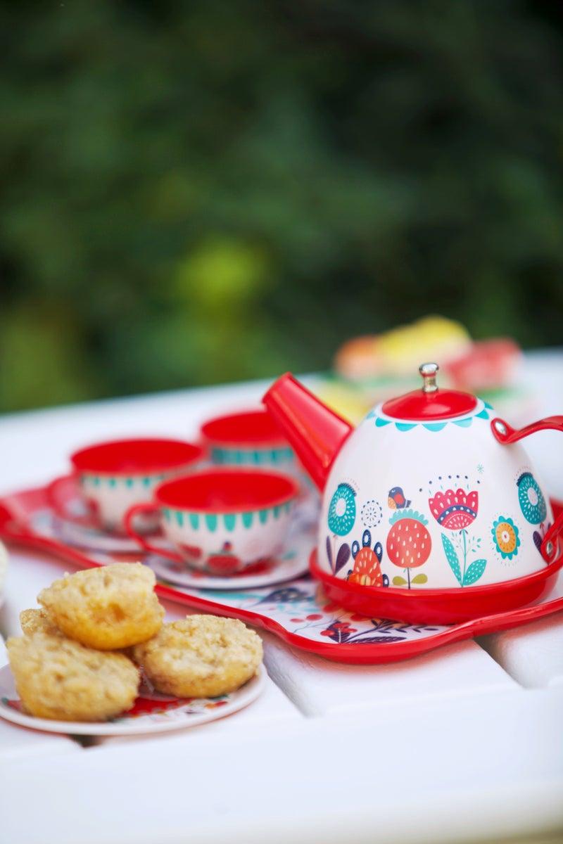 Vintage Look Tin Tea Party Set
