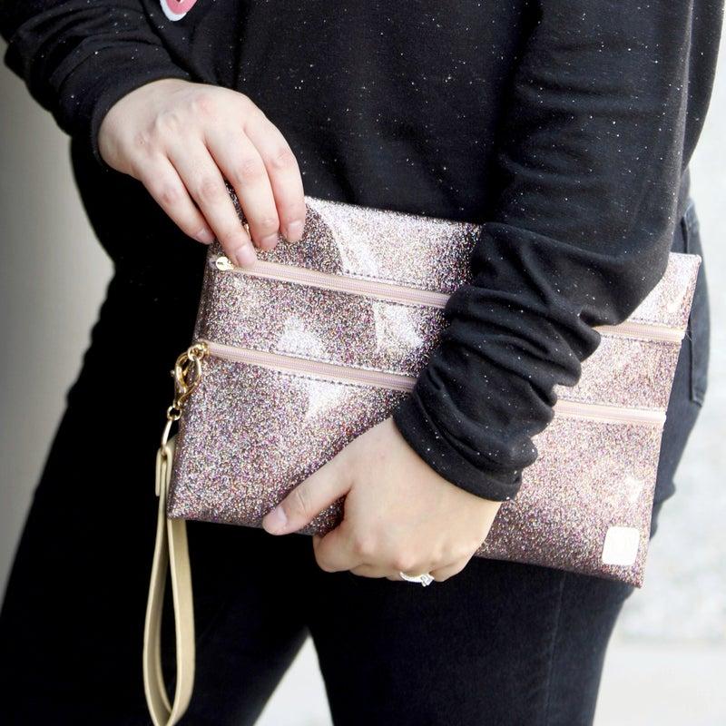 Rosé Glitter - Katie Clutch