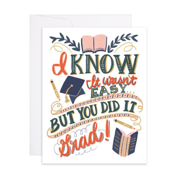 You Did It Graduation Letterpress Gold Foil Card