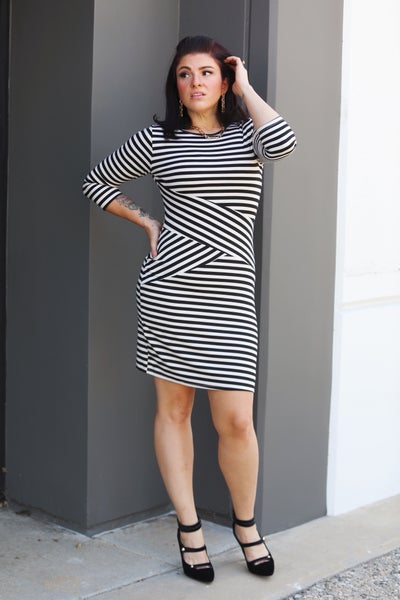 Blank Space - 3/4 Sleeve Dress