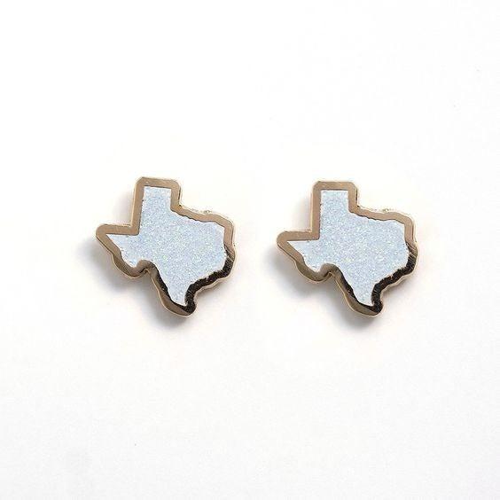 Glitter Texas  - 22k Gold Plated Stud Earrings