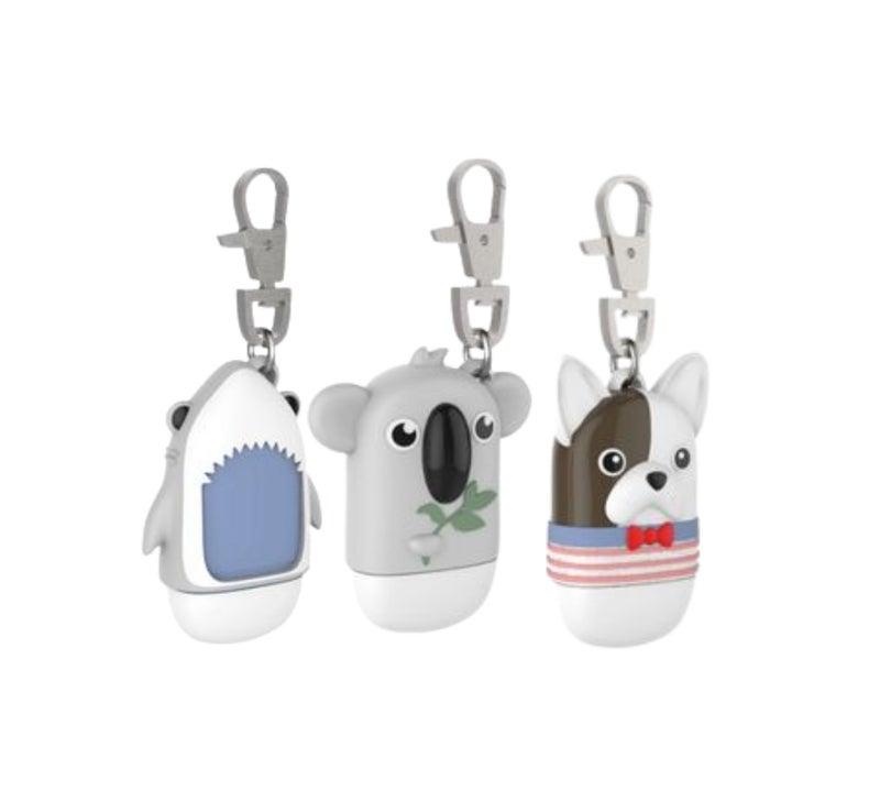 Adorable Hand Sanitizer Bottle Keyrings