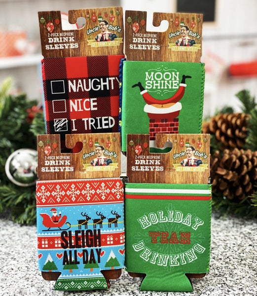 Ugly Sweater Holiday Drink Koozie - 2 Pack