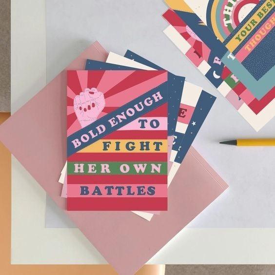 Empowering Quote Postcard Set