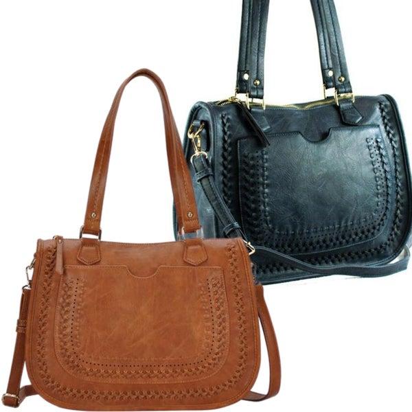 Classic Saddle Handbag - Vegan Leather