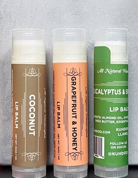 Kuhdoo Lip Balm - All Natural, Hand-Poured