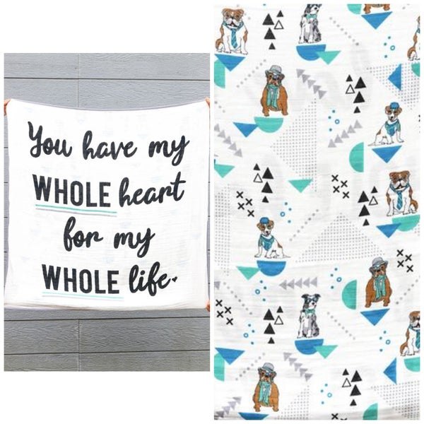 My WHOLE Heart - Baby Blanket - JLB