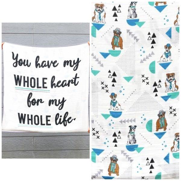 My WHOLEHeart- Baby Blanket - JLB