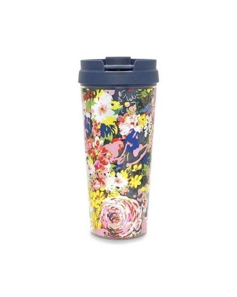 Navy Floral - Hot Stuff Thermal Travel Mug