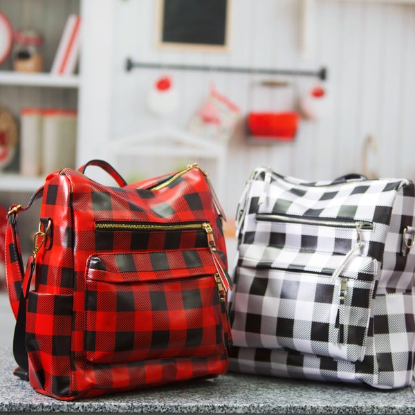 The Cher & Tai - Buffalo Plaid Backpacks - Restocking Next Week!
