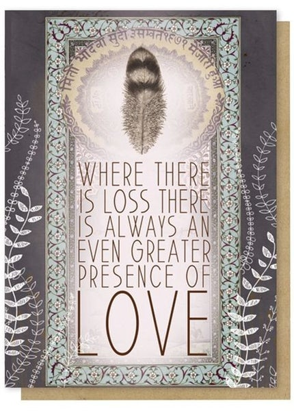Greater Love - Condolences Greeting Card
