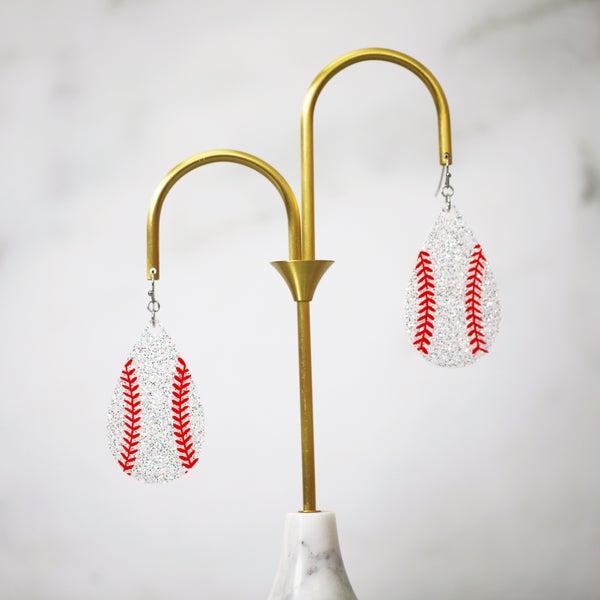Baseball Large Frameless Dangle Earrings