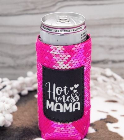 Hot Mess Mama - SLIM CAN Koozie