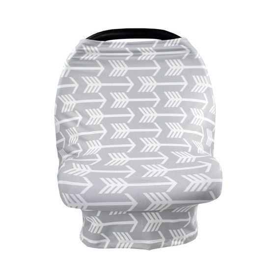 Gray Arrows - Nursing/Carseat Cover