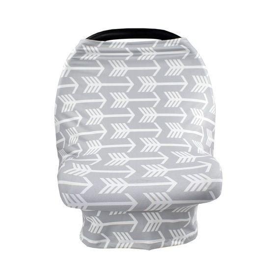 Gray Arrows - Nursing/Carseat Cover