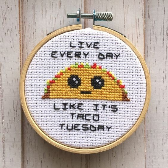 Taco Tuesday DIY Cross Stitch Kit