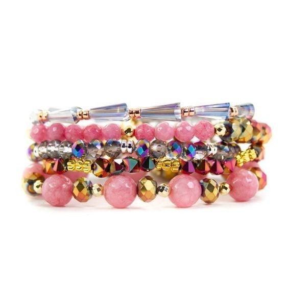 Pink Perfection Bracelet Stack