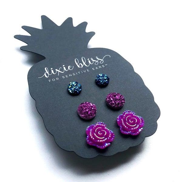 Violet - Earrings Trio