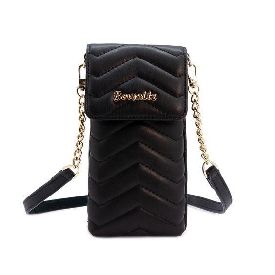 Mini Crossbody Phone Wallet - Black *Final Sale*