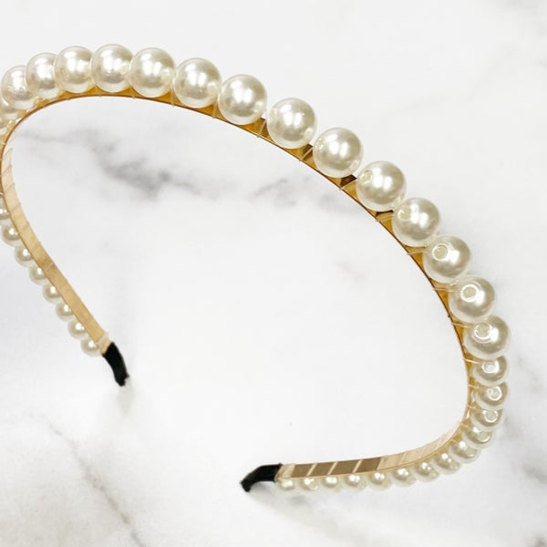 Classic Pearl Soft-Touch Headband