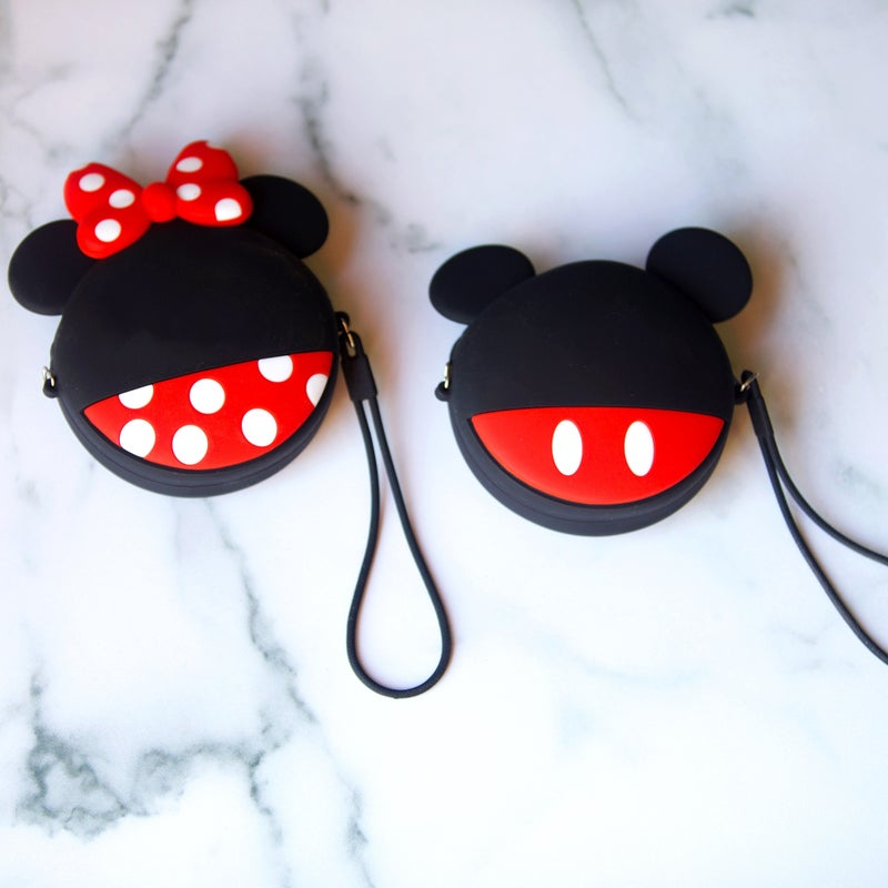 Mickey & Minnie - Kawaii Style Coin Purse w/Lanyard