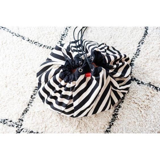 Black Stripes - Play&Go Toy Storage Bag