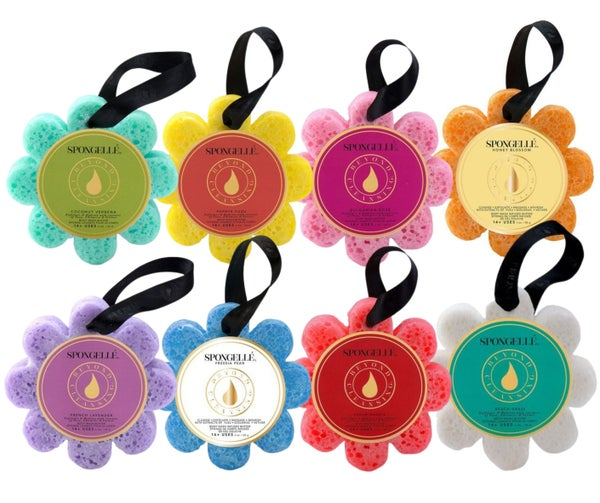 14+ Wash Flower - Spongellé - Premium Infused Bath Sponge