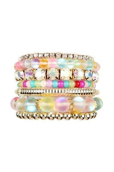 Kaleidoscope - Mermaid Stretch Bracelet Stack