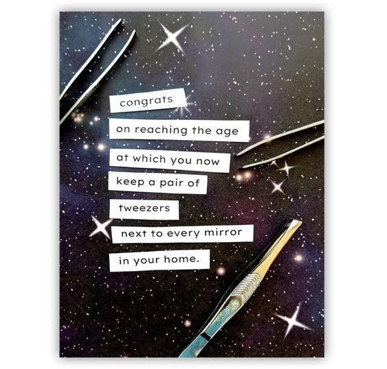 Tweezers - Birthday Card
