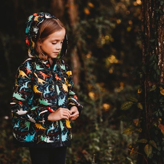 Kids - Color-Changing Raincoat - Dinosaur