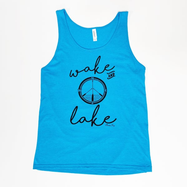 Wake and Lake - Unisex Tank Top - Reg/Plus