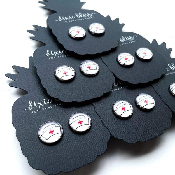 Nurse Photo Glass - Stud Earrings