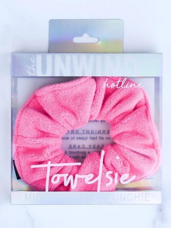 Towelsie - Hot Pink Microfiber Scrunchie