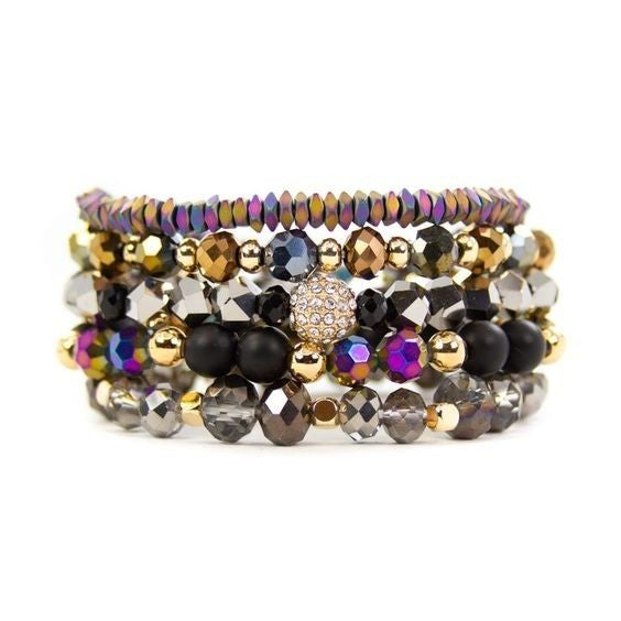 The Harlowe Bracelet Stack - Available in Standard & Extended Wrist Sizes!
