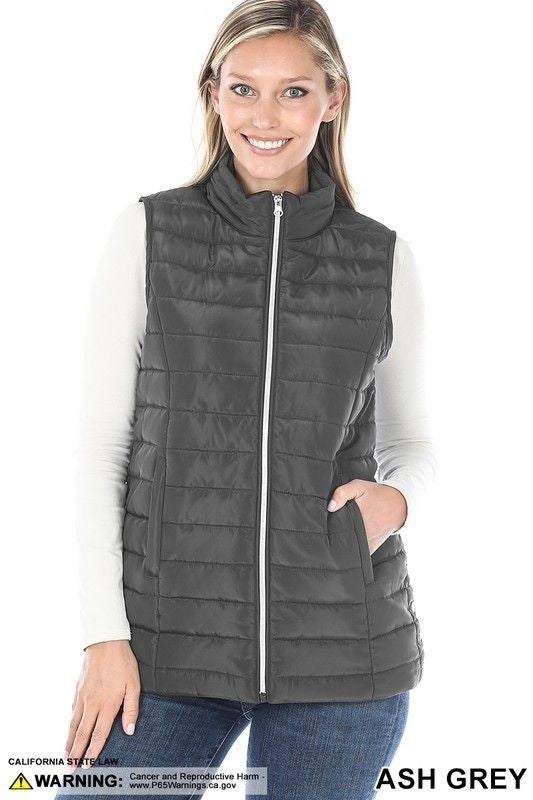 Quilted Vest  - 7 colors! - Reg/Plus