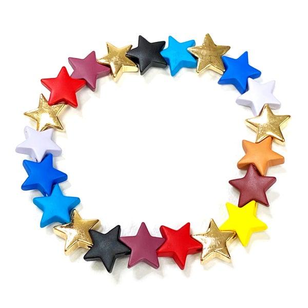 Matte & Metallic Stars Stretch Bracelet