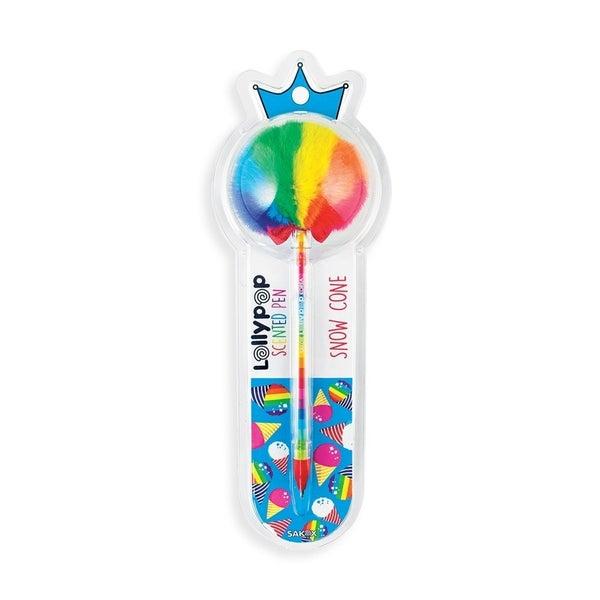 Pom Pom Lollypop Scented Pen - Snow Cone