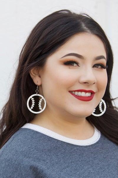 Baseball Glitter - Earrings