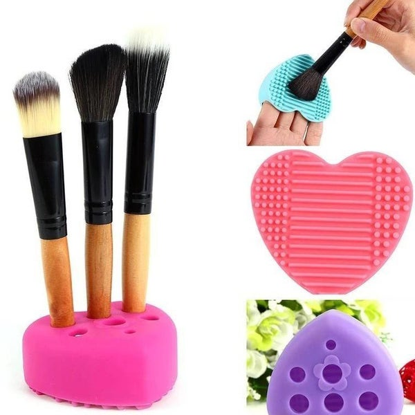 Heart Make-Up Brush Cleaner & Drying Stand