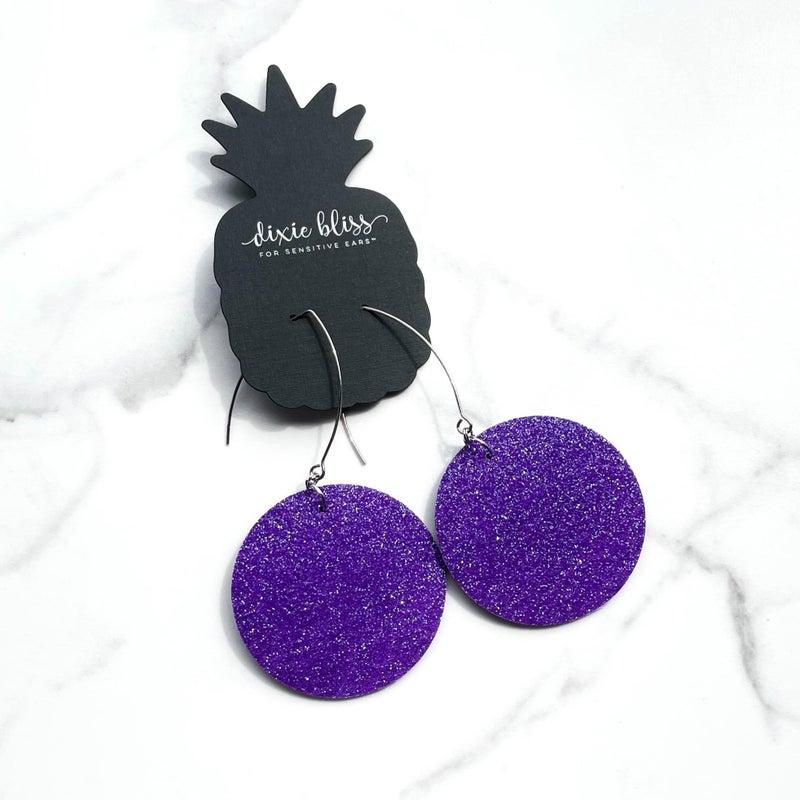 Vegas in Imperial Purple - Dangly Earrings