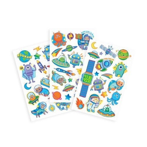 Space Explorer - Tattoo-Palooza Temporary Tattoos - 3 Sheets