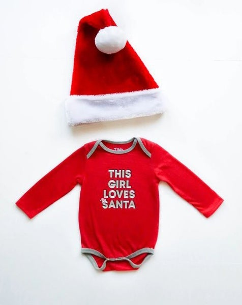 This Girl Loves Santa - Onesie / Long Sleeve - JLB