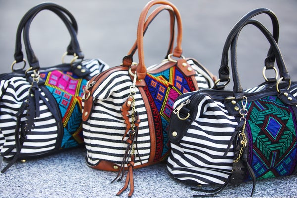 Wild At Heart - Boho Striped Embroidered Handbag
