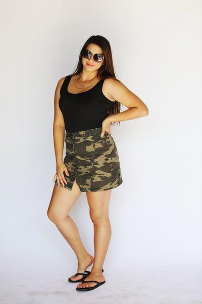 Camouflage Mini-Skirt *Final Sale*