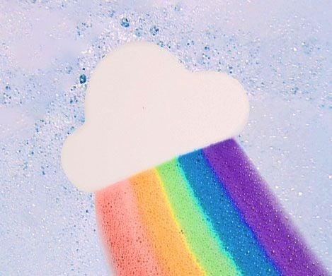 Rainbow Cloud Bath  Bomb