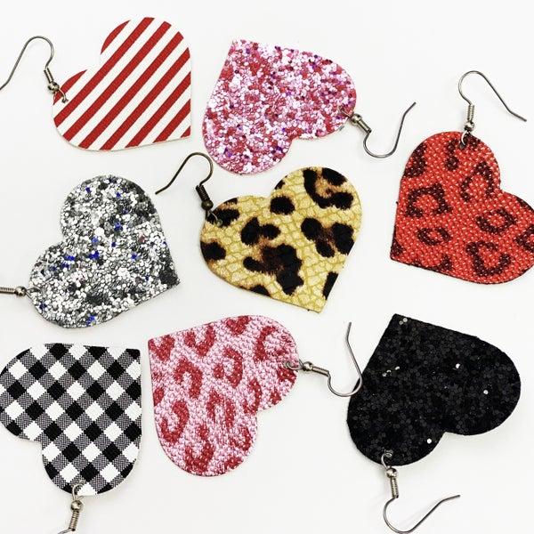 Itty Bitty Glitter Heart Earrings - Handmade, Hypoallergenic