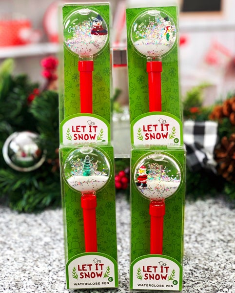 Holiday Snowglobe Pen