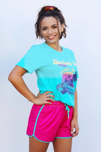 Hot Pink Drawstring Everyday Shorts with Pockets